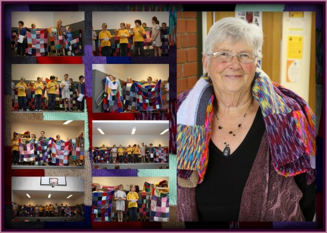 Mrs Carol Doddridge was acknowledged for her huge contribution to the knit one project (aid for AIDS orphans). Carol lost her house in the fire.