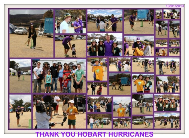Thank you Hobart Hurricanes for cheering up our students (and thanks to Ricky and Bec for organising this happy event)